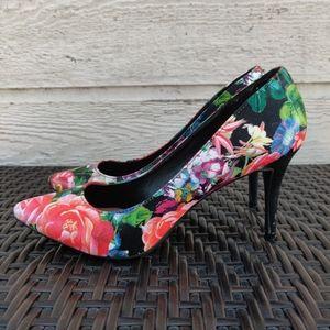 143 Girl Owanda Floral Pump Heel Sinthetic leather